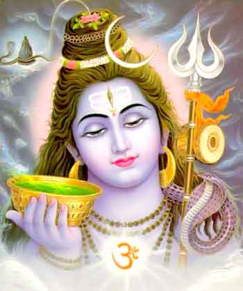 Shiva with a cup of poison